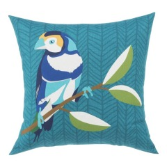 NEW Garden Treasures Solid Colorblock Finch Teal Square Patio Throw Pillow