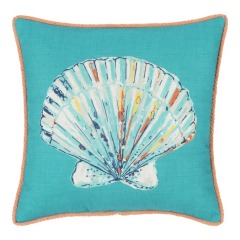 NEW allen + roth Solid Seashell Square Patio Throw Pillow