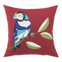 NEW Garden Treasures Solid Colorblock Finch Red Square Patio Throw Pillow