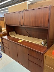 Cherry Wood 2 Piece Desk