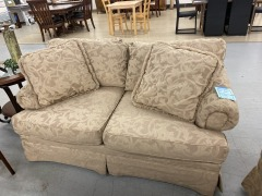 Beige Accent Love Seat