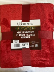 NEW Holiday Reindeer Embossed Flannel Blanket - 50\