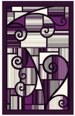 NEW Emirates Purple 8x10 Area Rug