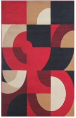 NEW Whistler Red 8x10 Area Rug