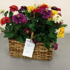 Silk Flower Basket - HOUSEWARES