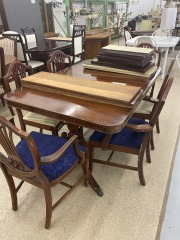 Cherry Antique Table w\/6 Chairs