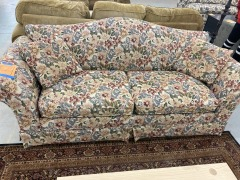 Pink Floral Tapestry Couch
