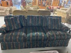 Hickory Fig Stripped Sofa