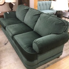 Green Corduroy Sofa - GENTLY USED FURNITURE