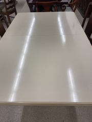 White Dining Table w\/Leaf