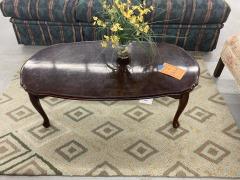 Oval Dark Wood Coffee Table