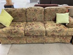 Tan Floral Sofa