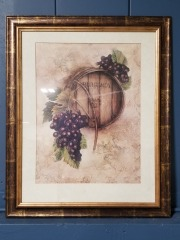 Burgundy Framed Art