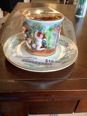 R. Capodimonte Italy M.R.S. cup\/saucer