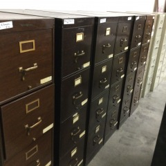 Brown 4-Drawer File Cabinet - OFFICE FURNITURE
