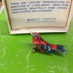 Vintage Scarlett Tanager Takahshi Bird Pins - COLLECTIBLES