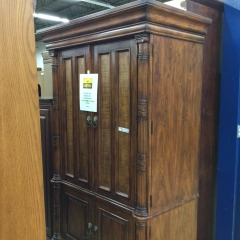 TV Armoire with Lion Head Pulls - GENTLY USED FURNITURE