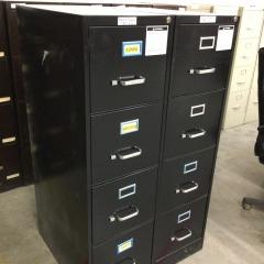 Black 4-Drawer File -OFFICE FURNITURE