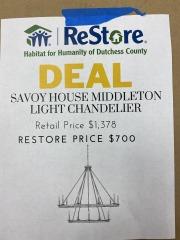 BRAND NEW Savoy House Middleton Light Chandelier