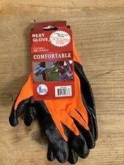 Orange Poly Work Gloves Coat - M