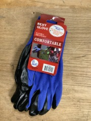 Blue Poly Work Gloves Coated - XL