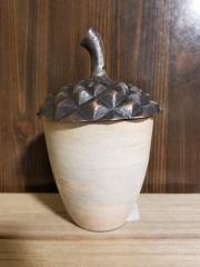 Small Acorn Storage Jar