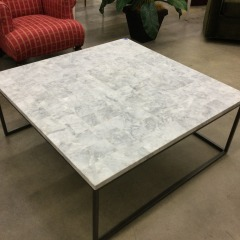 Square Marble Top Cocktail Table  (AS IS) - BETTER\/NEW FURNITURE