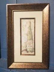 Wine & Glass Framed Art