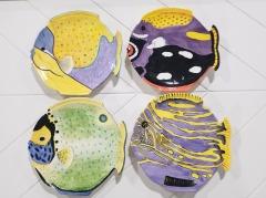 4pc Fish Plate Set