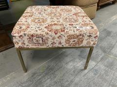 Metal Leg Upholstered  Ottoman