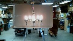 5 Bulb Brass light