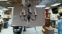 Leafy light fixture