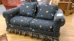 Blue floral couch