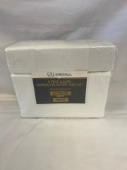 NEW Microfiber Bamboo White Sheet 6 pc Set- King