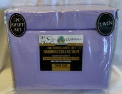 NEW Microfiber Bamboo Light Purple Sheet Set- Twin