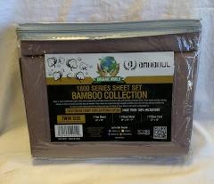 NEW Microfiber Bamboo Brown Sheet Set- Twin
