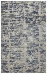 New Vista Grey Blue Area Rugs 5'x 8'