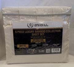 NEW Microfiber Bamboo Beige Sheet 6 pc Set- King