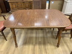 Wood Dining Table with Leaf