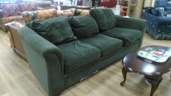 Green microsuede SOFAS