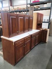 Dark Pine Facing Cabinet Set