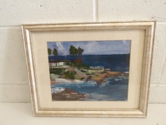 GENTLY USED Framed Canvas Painting