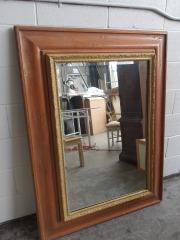 GENTLY USED Wood Framed Mirror