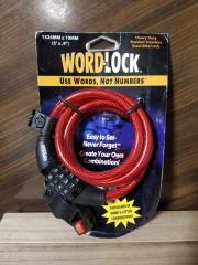 Red Word-Lock Bike Lock