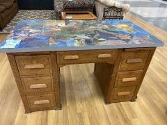 Habitat Special: Oak Desk w\/ Map Top