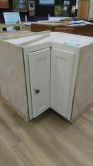 Wood corner cabinet off white