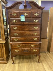 6 Drawer Wood Tall Chest