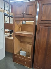 Maple Laminate Oven and Microwave Cabinet Section