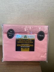 NEW Microfiber Bamboo Pink Sheet Set- Twin