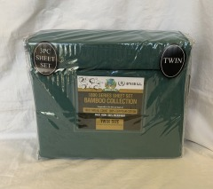 NEW Microfiber Bamboo Forest Green Sheet Set- Twin